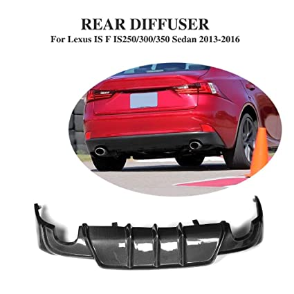 JCSPORTLINE Carbon Fiber Rear Bumper Diffuser For LEXUS IS F SPORT BUMPER  2013 2016