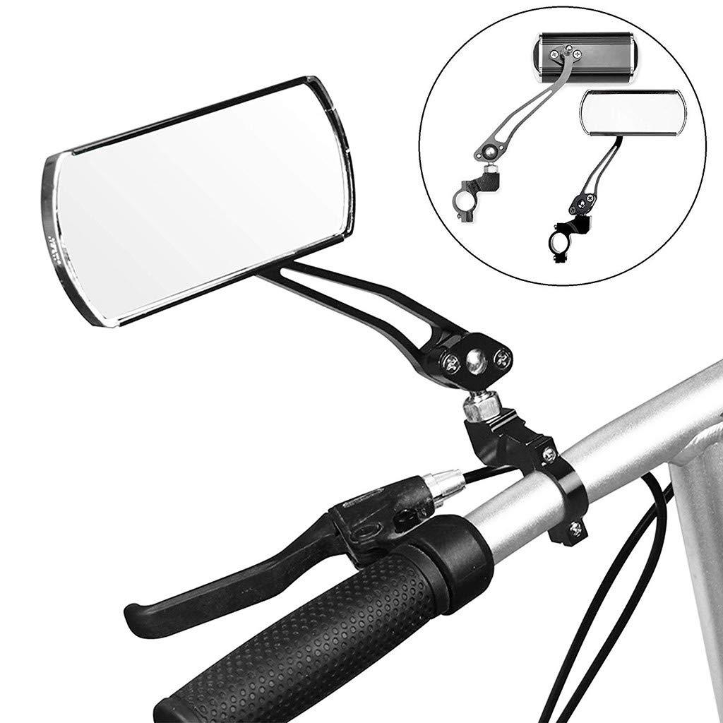 US 2pcs 2X Bike Rearview Mirror 360° Rotate Handlebar MTB for Bicycle Cycling