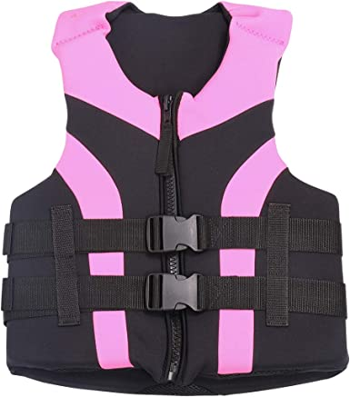 Adult Kids Life Jacket Swimming Floating Rafting Diving Neoprene Safety Aids