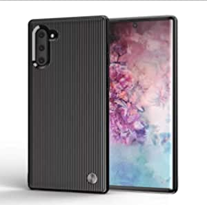 Cover for Samsung Galaxy Note 10 Plus, Hadinas Strip Silicone Case Protective Phone Cover.