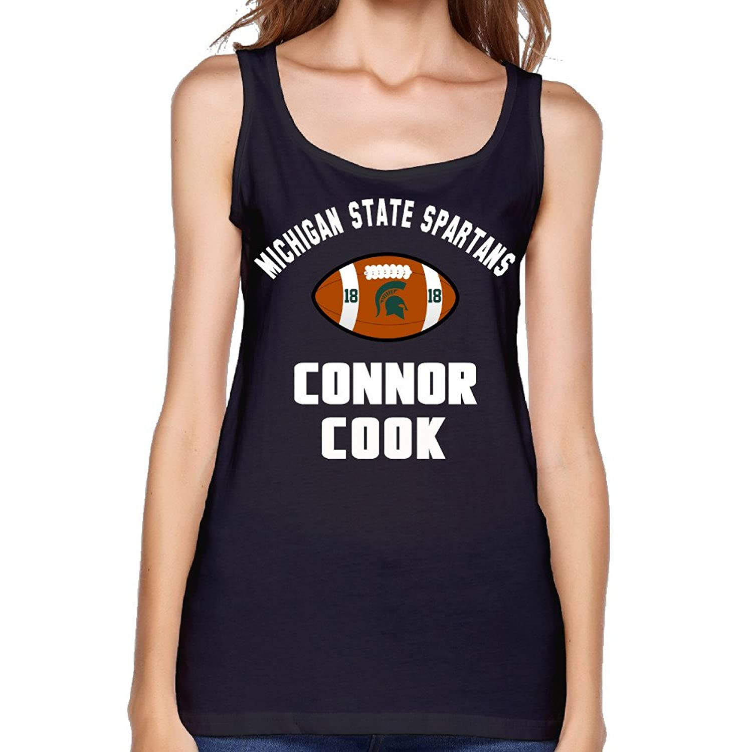 Women's Michigan State Spartans Connor Cook Football Tank Top-