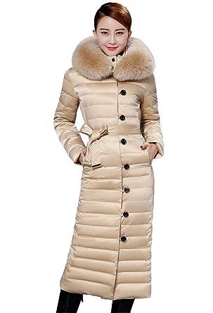 Queenshiny damen lange daunenjacke mantel