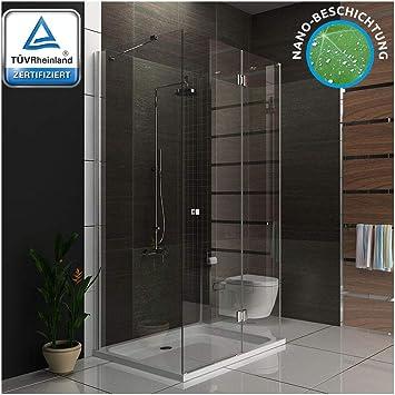 Ducha cabina de ducha U forma Mampara de 6 mm Easy Clean Cristal 3078193010 métrica 90 x 120 x 195 cm: Amazon.es: Bricolaje y herramientas