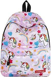 TTD Unicornio patrón serie niños niñas Escuela bolsa mochila ligero peso para senderismo viajes camping-Color 1