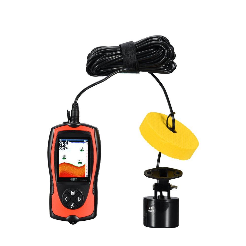 2 In 1無線および有線魚のファインダーHDスクリーン赤い魚の検出器 B07CM36H8M 2in1