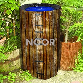 Deko Cover Für Regenfässer In Holzoptik Schutzhülle Für Regenfass