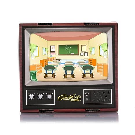 LISRUI Cartón Proyector Mini TV Creativo Madera Color HD Viaje Al ...