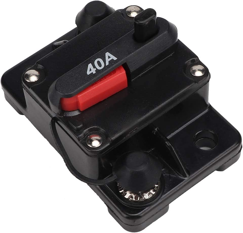30A Manual Reset for Marine Boat Car Audio Stereo Circuit Breaker Inline Fuse Inverter 12V Fault Video Current Overload Protector