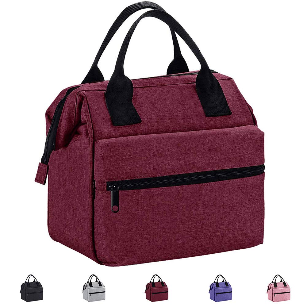 Srise Lunch Box Insulated Lunch Bag For Men & Women Meal Prep Lunch Tote Boxes(Red) …