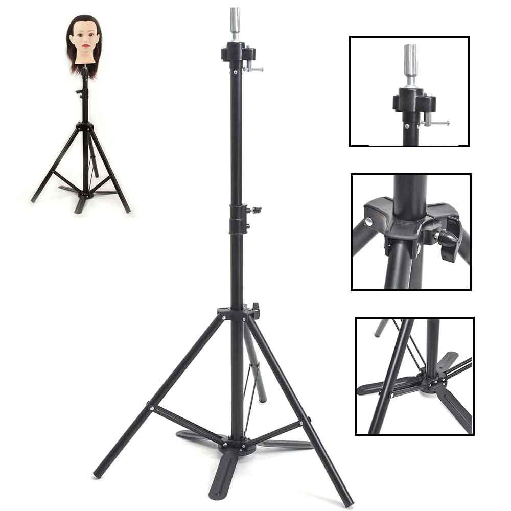Adjustable Tripod Stand Holder Hairdressing Training Head Mold Mannequin Holder With Carrying Bag ESJJ01- HAIREALM