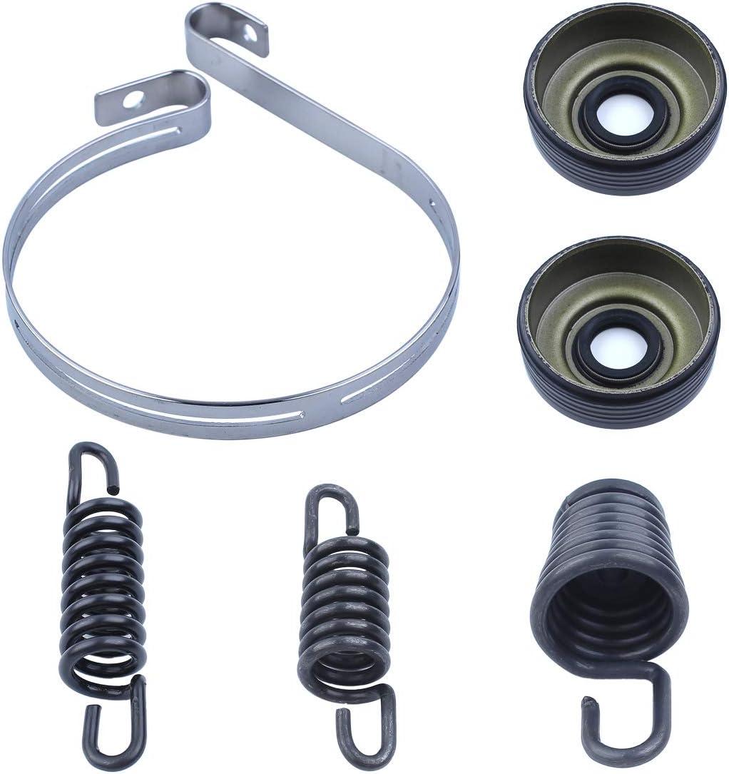 Haishine AV Buffer Mount Spring Brake Band Oil Seal Kit for Partner 350 351 370 371 390 420 Chainsaw Isolator Shock Replacement Parts