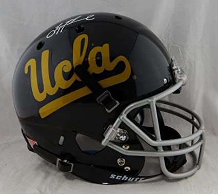 timeless design 14565 46dbf Amazon.com: Troy Aikman Autographed Full Size UCLA Black ...