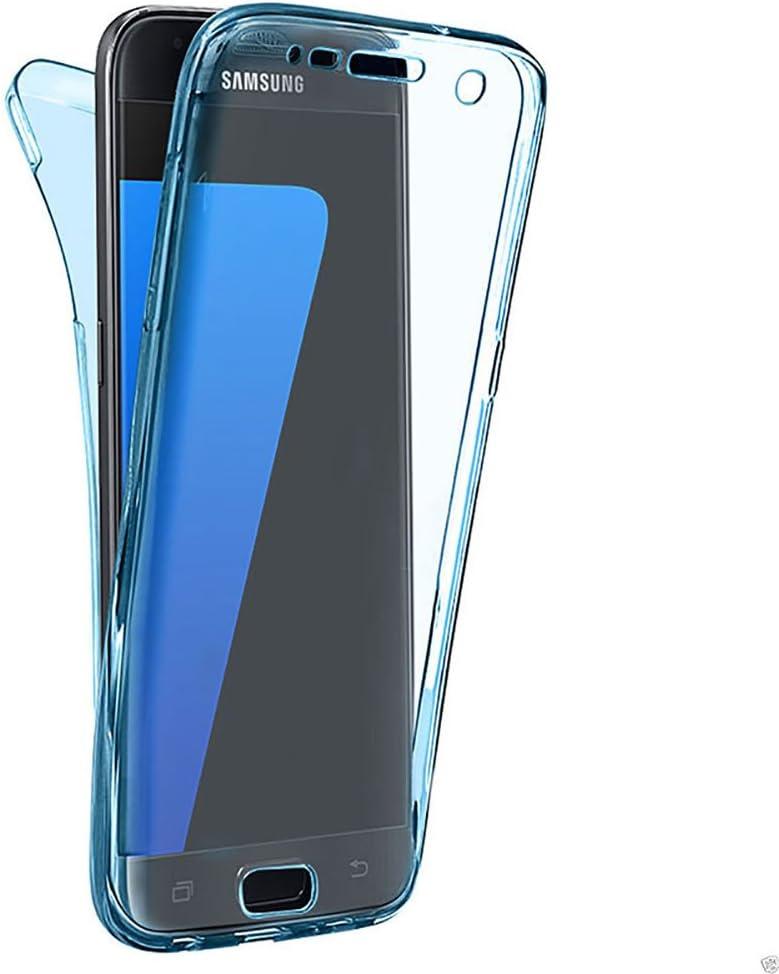 Hell Blau CESTOR Handytasche f/ür Samsung Galaxy S9 Ultra-Weiche Clear Silikon Dual-Layer 360 Grad Durchsichtig TPU Fester Farbe Kratzfest Schutzh/ülle f/ür Samsung S9