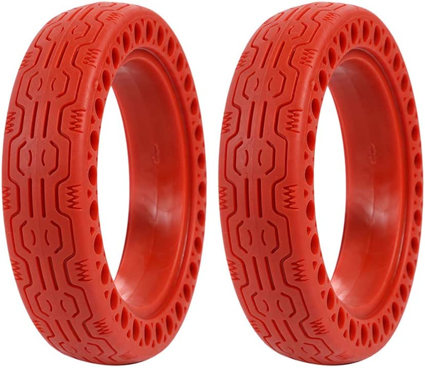 FOLOU Electric Scooter Replacement Wheels Solid Never Flat Tires for Xiaomi M365 or Similar E-Scooter Models (Set of 2 Tires)