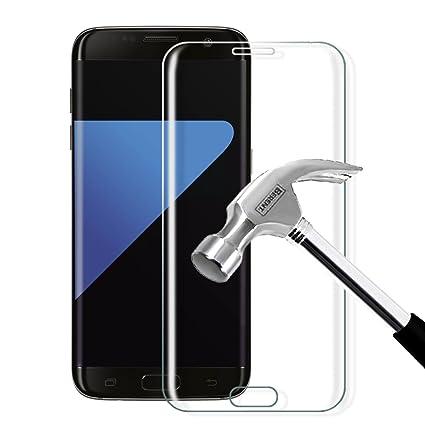 Vegkey Protector de Pantalla Galaxy S7 Edge, Galaxy S7 Edge Cristal Templado Protector de Pantalla