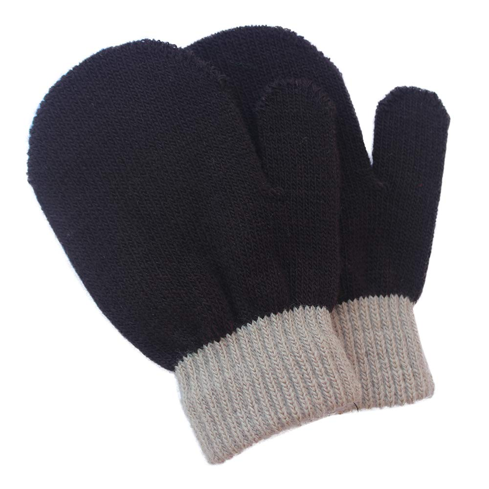 4 Pairs A LIMARIO Kids Boys Girls Winter Warm Magic Gloves-Colorful Stretchy Knit Glovers