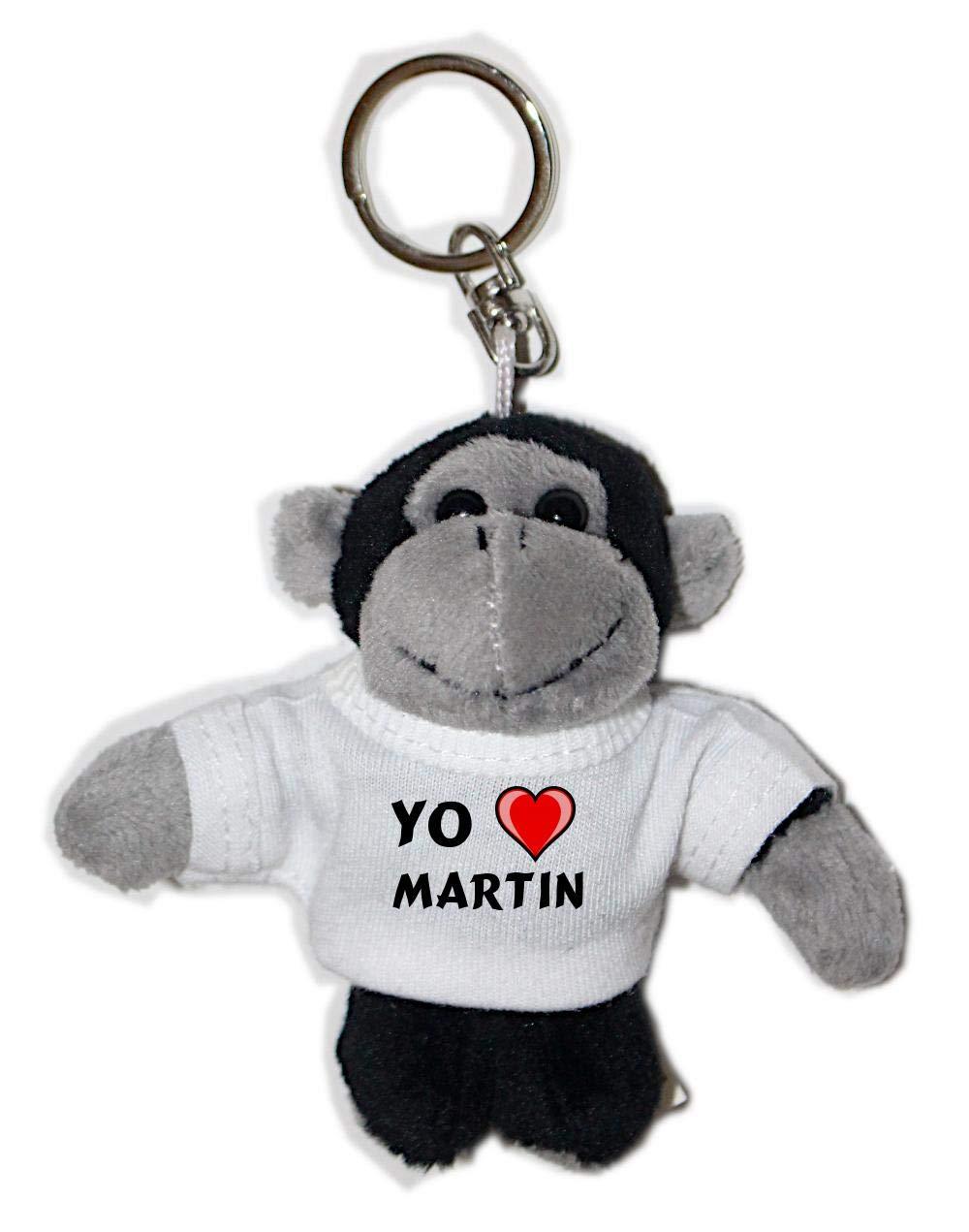 Mono de peluche (llavero) con Amo Martin en la camiseta ...