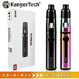 電子タバコ スターターキット Kangertech K-PIN Mini vape pen 1500mAh充電式バッテリー 2ML容量爆煙 伸縮式マウスピース ポータブル気化器 LEDインジケータ(虹色)