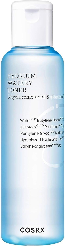 COSRX Hydrium Watery Toner, 150ml / 5.07 fl.oz   Hyaluronic Acid Moisture Toner   Korean Skin Care, Cruelty Free, Paraben Free