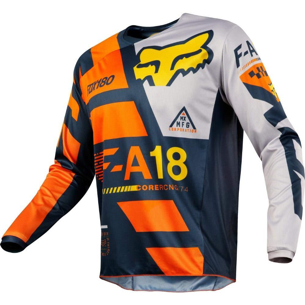 Fox Racing 180 Sayak Mens Off-Road Motorcycle Jerseys Orange//Medium