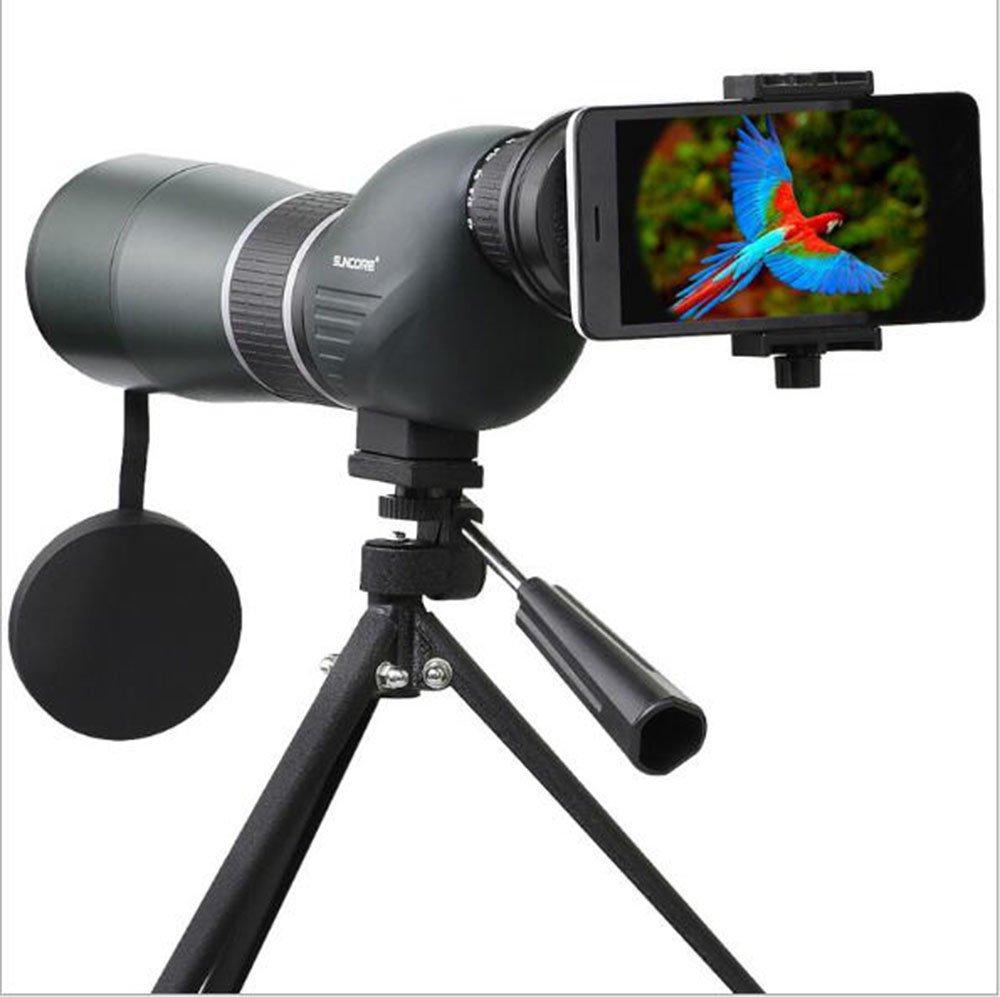 Telescopio da viaggio monoculare, 15-45x60A con treppiede Zoom BAK-4 Telescopio HD prisma completamente multi rivestito, per il bird watching, principianti, adulti/bambini Optoelectronics Technology