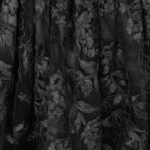 Hearts & Roses London Dentelle Noire Victorien Gothic Steampunk Vintage Robe Soirée
