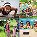 NOVASAT Bluetooth Speakers Wireless Portable Waterproof Speaker 24 Hours Playtime 20W Output Outdoor Speakers with Microphone HD Sound and Bass for Apple and Android Phones
