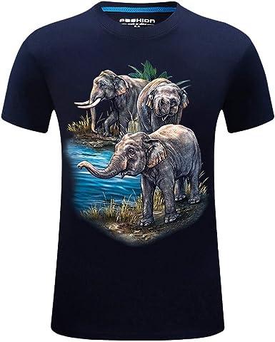 XuanhaFU Camiseta Hombre de Verano, Moda Hombres Elefante de ...