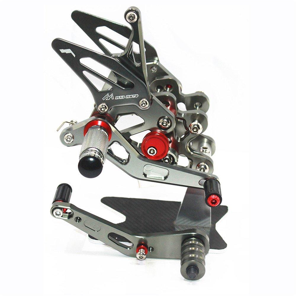Rearsets Rear Sets Footpegs CNC Adjustable For Suzuki GSXR 600 2006-2010