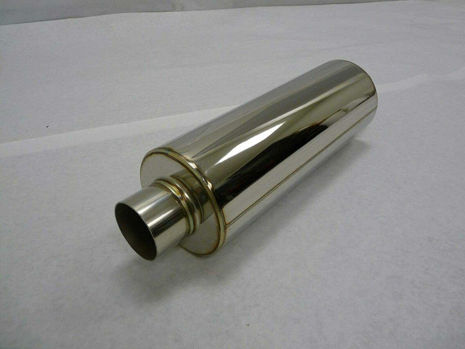OBX Performance Stainless SUV Welded-On Resonator Inlet Outlet 2.5 18 Length