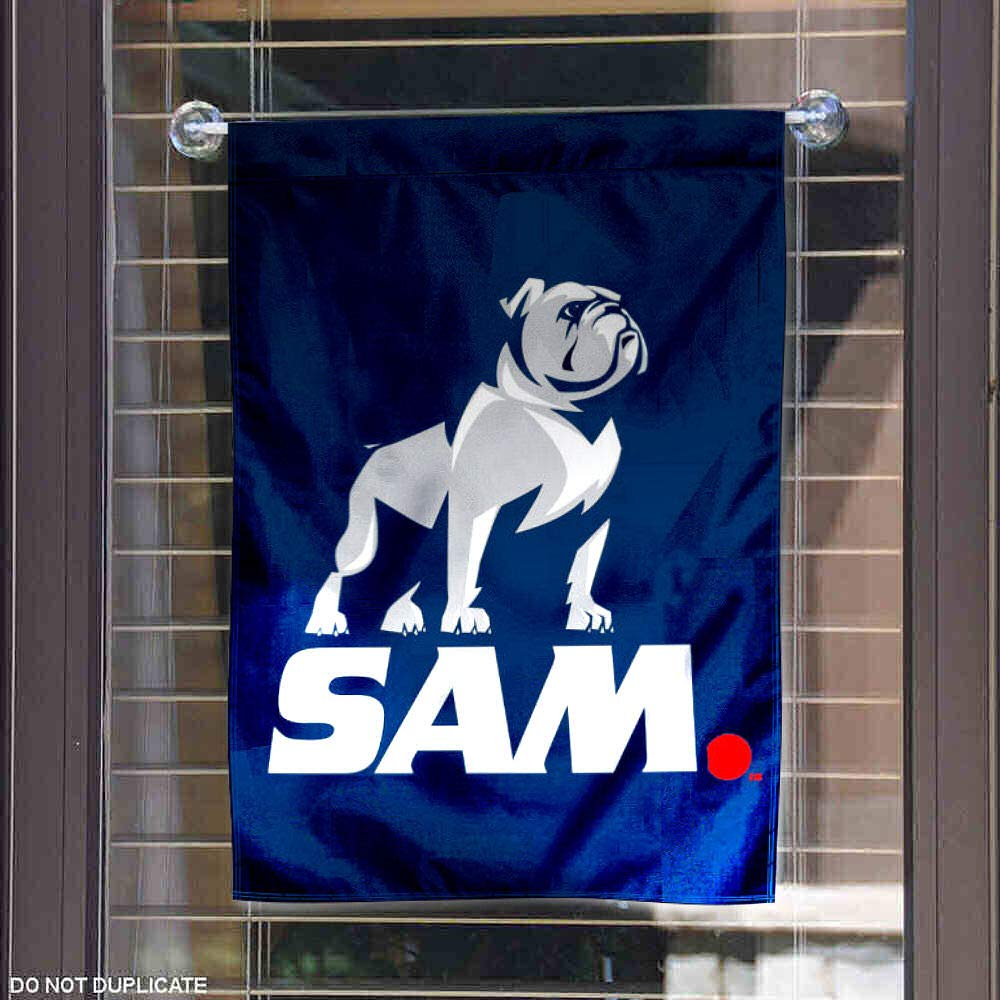 College Flags and Banners Co Samford Bulldogs New Logo SAM Garden Flag
