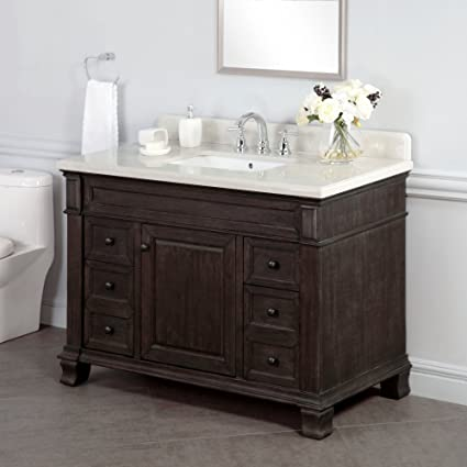 Lovely Lanza WF6953 48 Kingsley 48 In. Single Bathroom Vanity