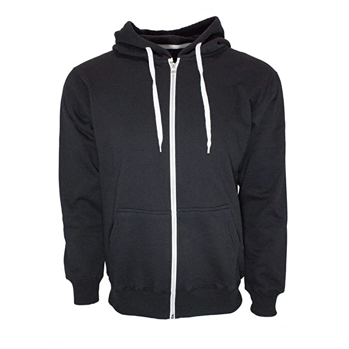 e9bd552448ae2 Men s Full Zip French Terry Cotton Hoodie Sweatshirt at Amazon Men s ...