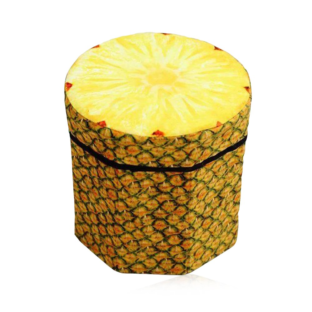 ZhenDuo Original Creative Toy Chests Storage Box Chair for Home Clothes Books Organizer (Pineapple)