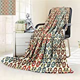AmaPark Digital Printing Blanket Vector Seamless Islamic with Motifsations for Home Print Brown and Summer Quilt Comforter