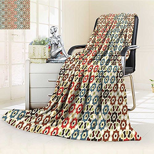 AmaPark Digital Printing Blanket Vector Seamless Islamic with Motifsations for Home Print Brown and Summer Quilt Comforter by AmaPark