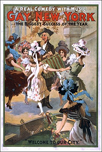 Amazon com: Gay New York Vintage Musical Comedy Poster, 1907 Wall