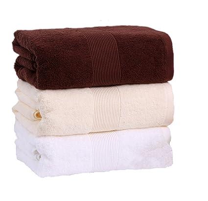 W80 cm x L180 cm Extra grandes toallas de hotel colección de algodón toalla de baño