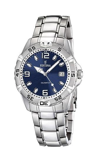 Festina F16636/3 - Reloj analógico de cuarzo para hombre con correa de acero inoxidable