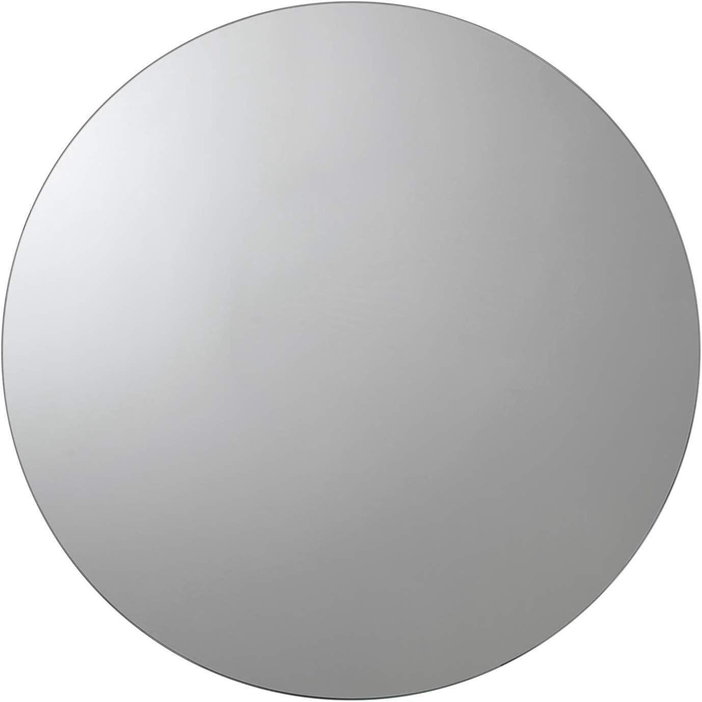 Croydex Severn Stainless Steel Circular Medicine Cabinet with Over Hanging Mirror Door, 19.7 x 19.7 x 3.9 In.