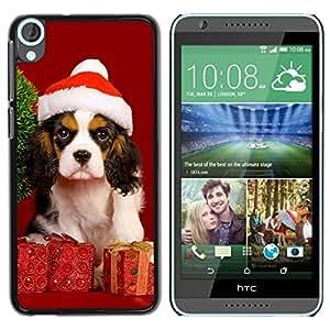 EJOY---Cubierta de la caja de protección la piel dura para el ** HTC Desire 820 ** --Navidad del perro de perrito