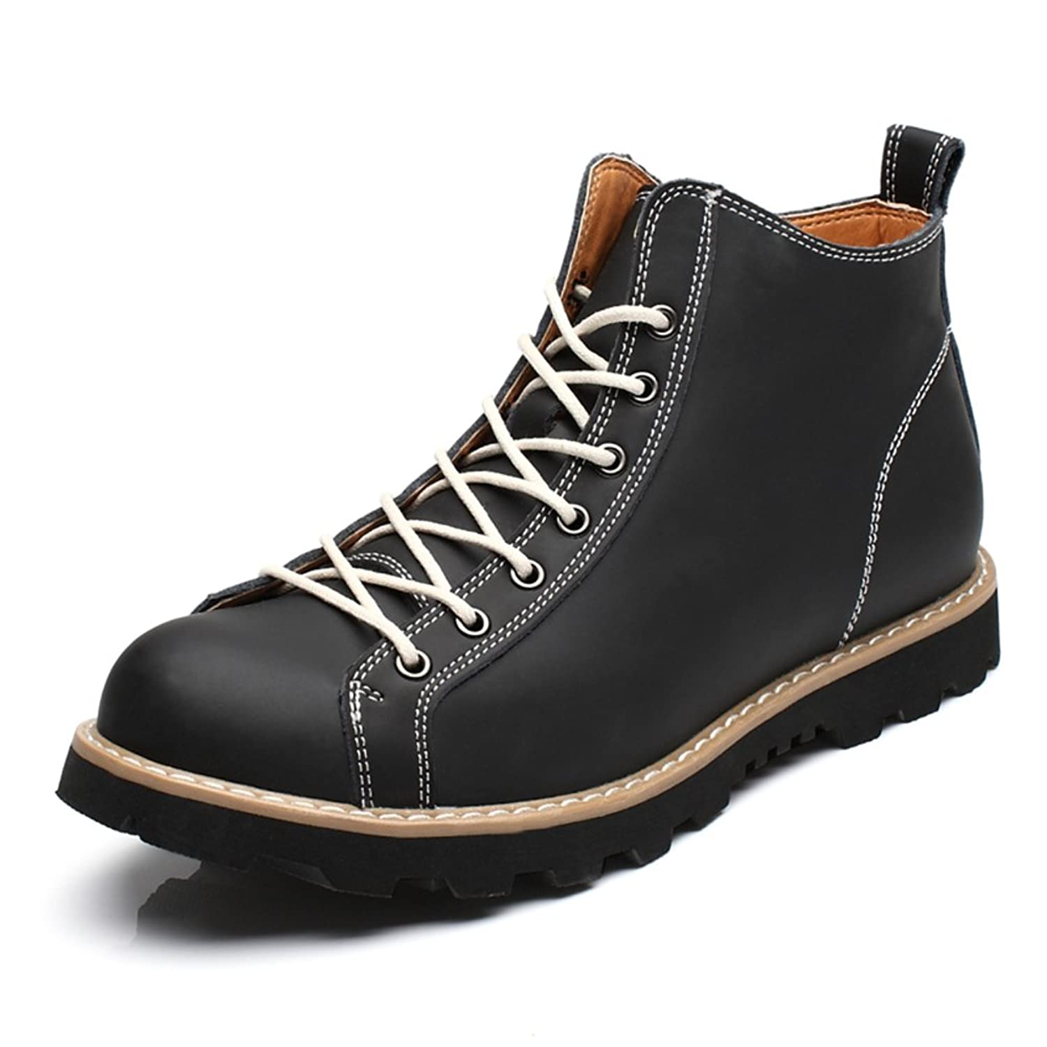 Martin boots/men's short boots /Genuine leather men's boots/fashion high-top shoes/Retro tooling boots UK
