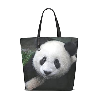 07457fbe8ce8 Amazon.com  Animal Panda Black Mix Tote Bag Purse Handbag For Women Girls   Shoes