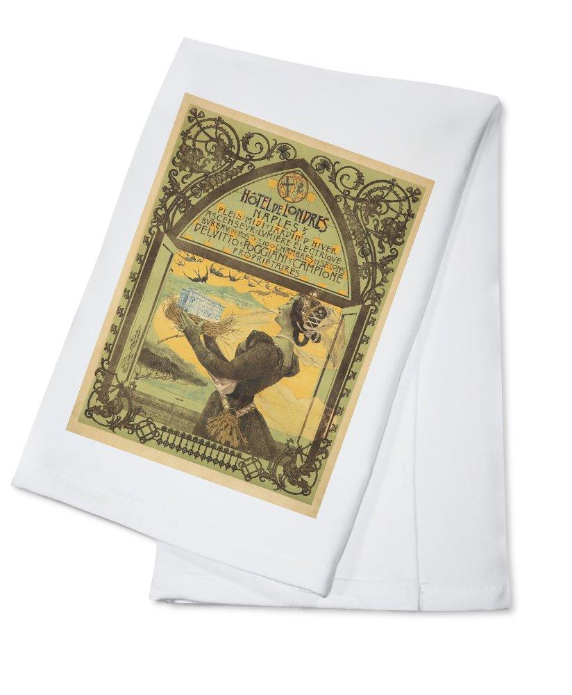 Hotel de Londres Vintage Poster (artist: Mataloni) Italy c. 1897 (100% Cotton Kitchen Towel)