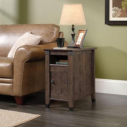 Charmant Sauder 420422 Carson Forge Coffee Oak Side Table