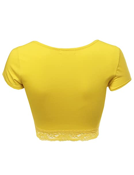 27aeff82e53009 Awesome21 Women s Lace Crop Tops at Amazon Women s Clothing store