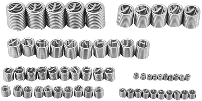 60pcs Stainless Steel Thread Repair Kit M3 M4 M5 M6 M8 M10 M12 Wire Screw Sleeve