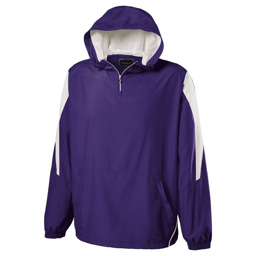 Holloway Youth Commence Swif-Tec Pullover (Large, Purple/White) by Holloway