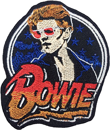 [David Bowie 6.5 x 7.5cm song Music ROCK N ROLL Punk Heavy Metal Band Logo Jacket Vest shirt hat blanket backpack T shirt Patches Embroidered Appliques Symbol Badge Cloth Sign Costume] (80s Rock N Roll Costumes)