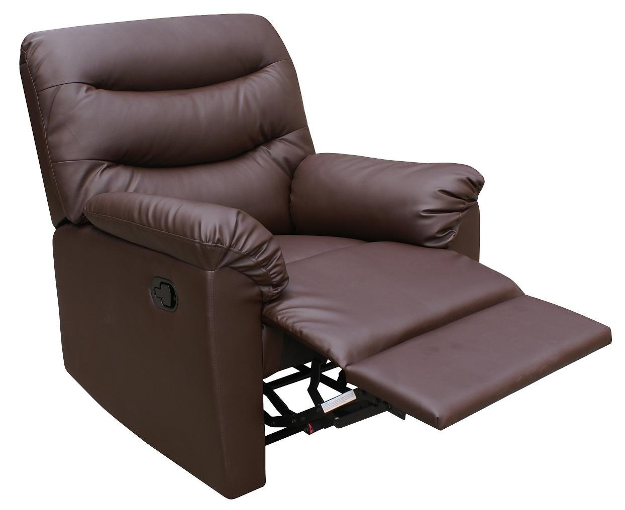 Birlea Regency Faux Leather Recliner Chair, Brown: Amazon.co.uk: Kitchen U0026  Home